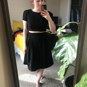 Two-Piece Black Dress